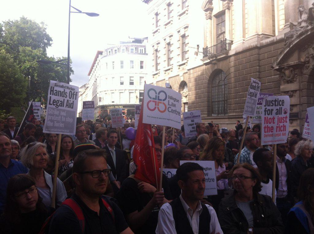 Justice Alliance crowd